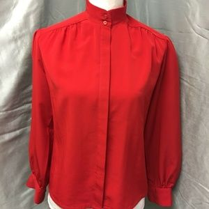 Pendleton Country Sophisicates Sz 8 Red Blouse